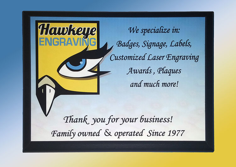 Plaque With Logo