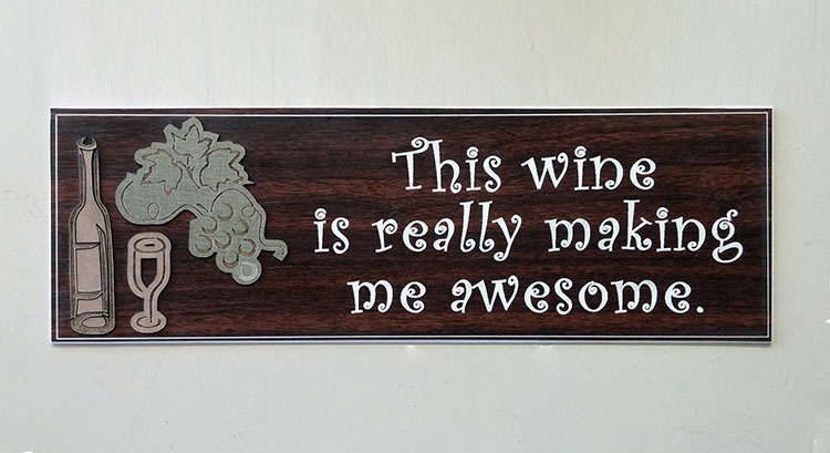 Custom Wine Sign